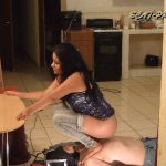 Toilet Slave rolling under the Table Part 6 Gabi